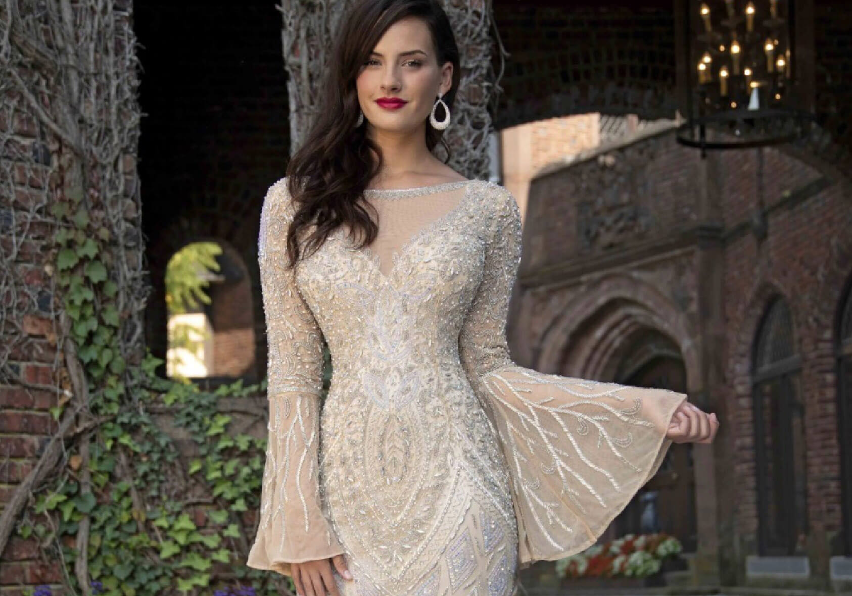 Photo of model wearing a Evening Collection Dress